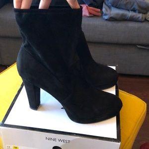Nine West heeled suede booties